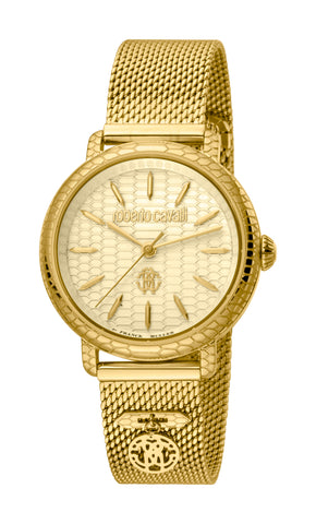 Roberto Cavalli by FM Women GP Bracelet Watch Champagne  Dial