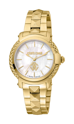Roberto Cavalli by FM Watch Ladies White MOP Dial