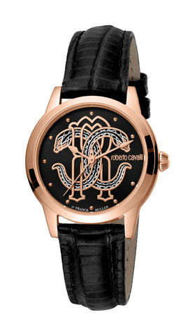 Roberto Cavalli by FM Watch Ladies Black Dial