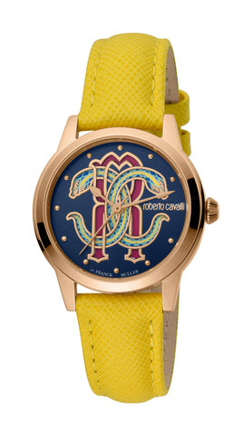 Roberto Cavalli by FM Watch Ladies Dark Blue Dial
