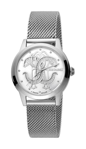 Roberto Cavalli by FM Watch Ladies Silver Dial