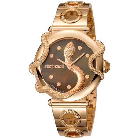 Roberto Cavalli Brown Dial Ladies Watch