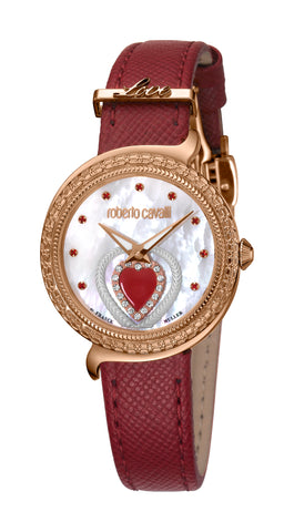 ROBERTO CAVALLI BY FM WHITE DIAL LADIES WATCH