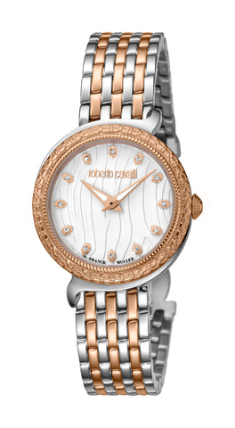 Roberto Cavalli Silver Ladies Watch