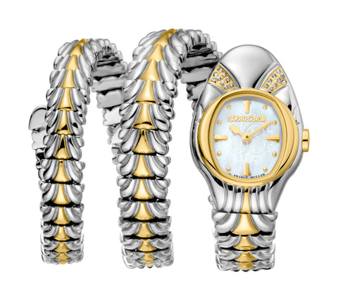 Roberto Cavalli Ladies White MOP Dial Watch