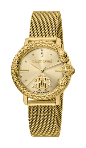 Roberto Cavalli by FM Watch Ladies Champagne Dial