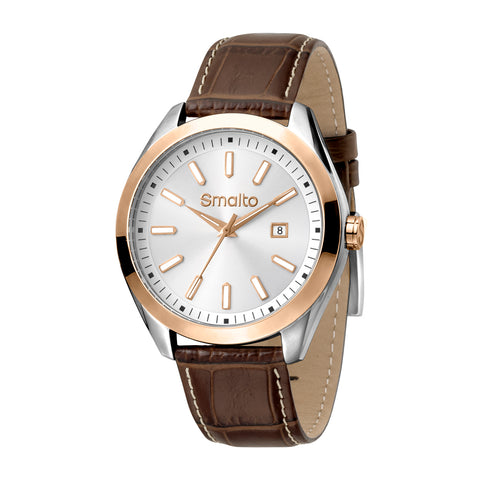 Smalto Silver Sunray Dial Gents Watch