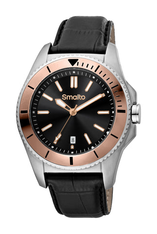 Smalto Black Sunray Dial Gents Watch