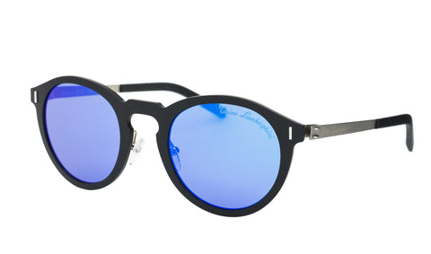 Tonino Lambrghini Rounded Gents Sunglasses (Mirror Blue )