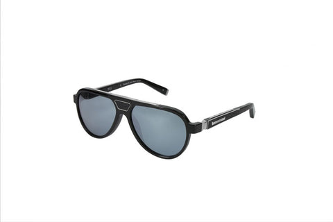 Zilli Gents Acetate Sunglasses (Silver Mirror)