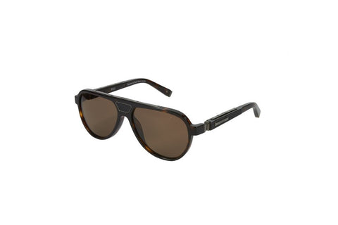 Zilli Gents Acetate Sunglasses (Brown)