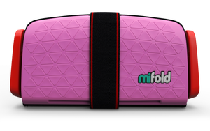 mifold Grab & Go Booster Seat: Perfect Pink