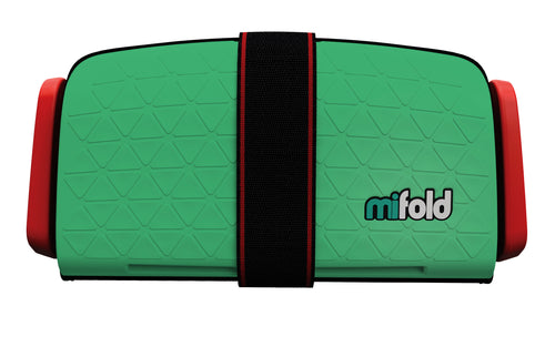 mifold Grab & Go Booster Seat: Lime Green