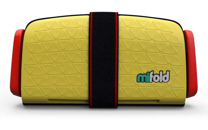 mifold Grab & Go Booster Seat: Taxi Yellow
