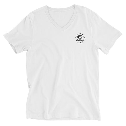 TST Legacy Relaxed Fit Short Sleeve V-Neck Tee - White