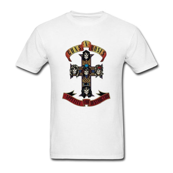 RURER Men's Appetite For Destruction Guns N' Roses T-Shirts