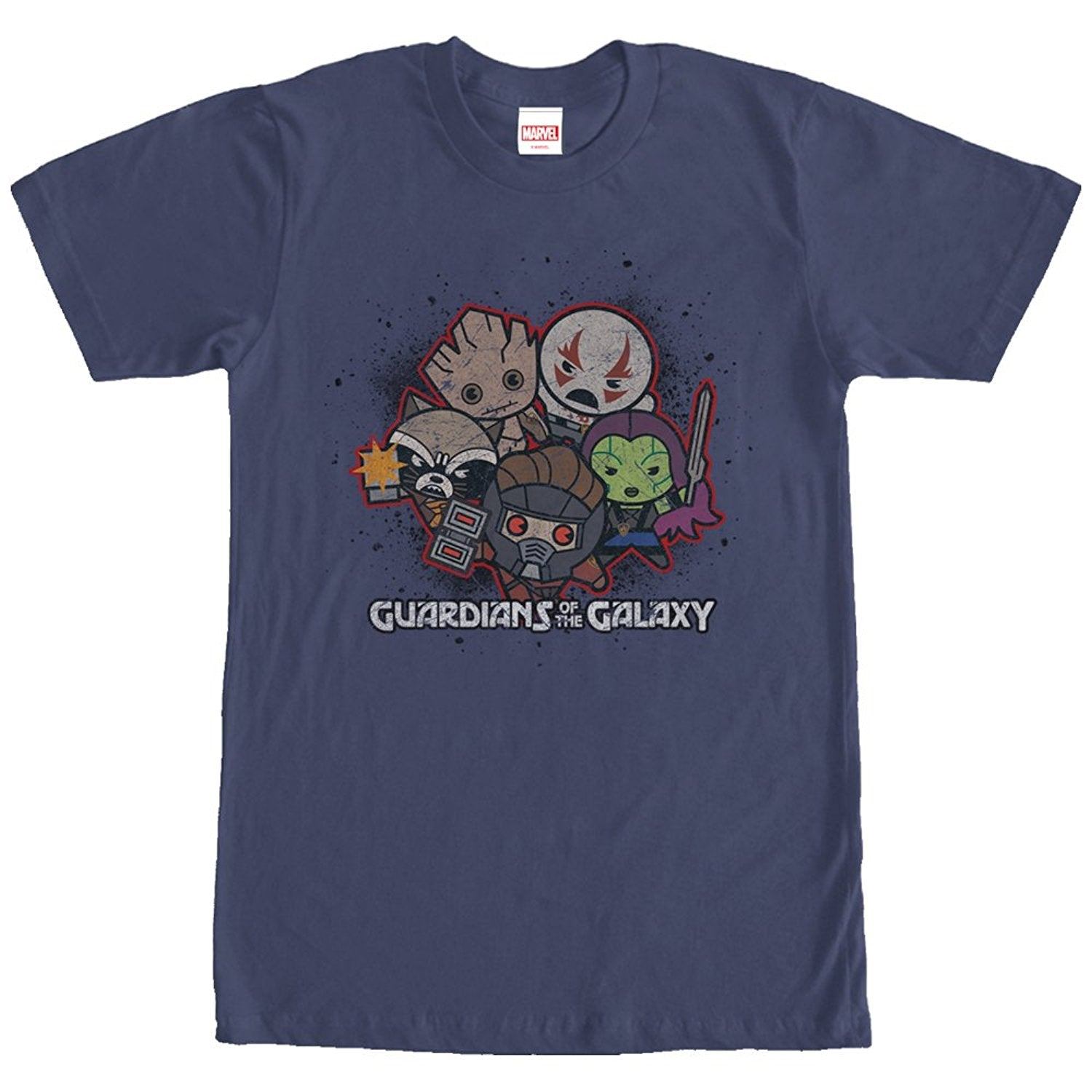 Marvel Guardians of the Galaxy Kawaii Mens Graphic T Shirt