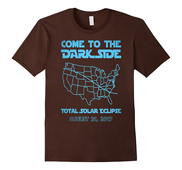 come to the dark side total solar ecliipse Astronomi t-shirt