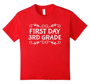 Kids Grade 3 3rd First Day Of School Cute T-shirt Girls Boys