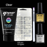 Set Extension d'Ongles Gel Rapide 5 pièces 3 Couleurs Disponibles French Beauty Transparent