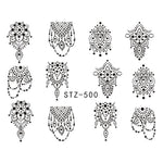 Feuilles de stickers pour Nail Art - 31 modèles Stickers et décalcomanies Sara Nail Art Products Wholesale STZ500