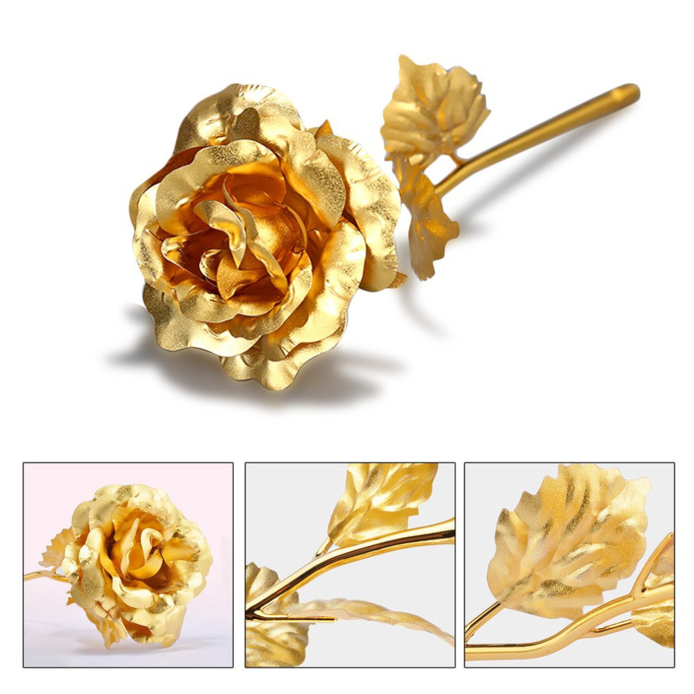 Eternal Gold Plated Rose