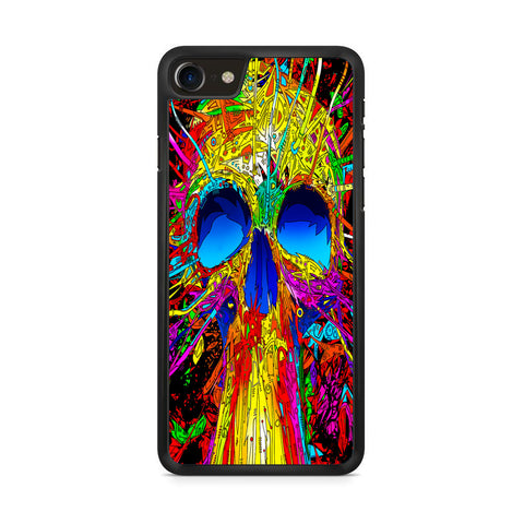Abstract Colorful Skull iPhone 8 Case
