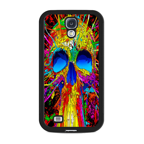 Abstract Colorful Skull Samsung Galaxy S4 Case