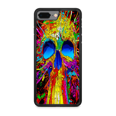 Abstract Colorful Skull iPhone 8 Plus Case