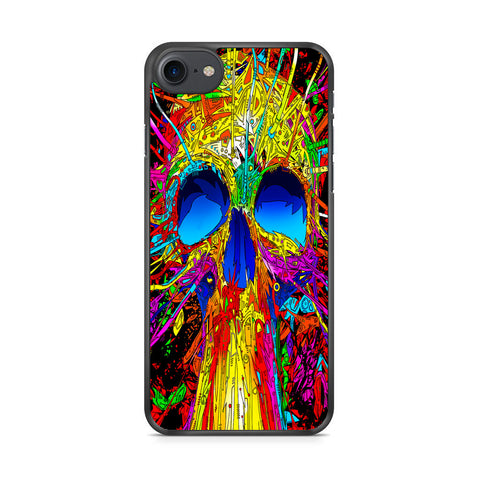 Abstract Colorful Skull iPhone 7 Case