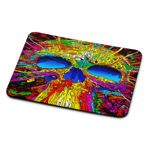 Abstract Colorful Skull Mouse Pad