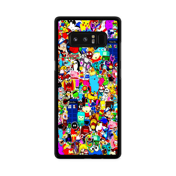 All Character Game And Movie Collage Samsung Galaxy Note 8 Case
