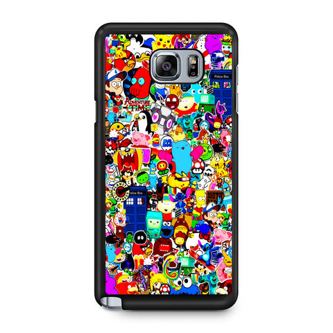 All Character Game And Movie Collage Samsung Galaxy Note 5 Case