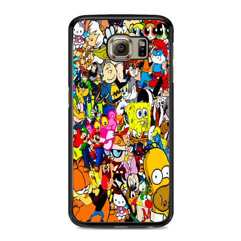 All Characters Cartoon Collage Samsung Galaxy S6 | S6 Edge | S6 Edge Plus Case