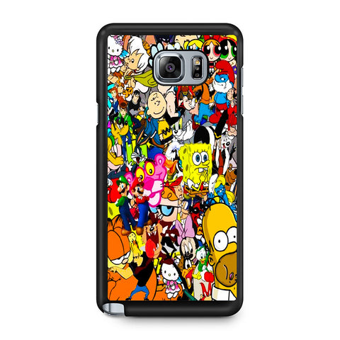 All Characters Cartoon Collage Samsung Galaxy Note 5 Case