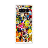All Characters Cartoon Collage Samsung Galaxy Note 8 Case
