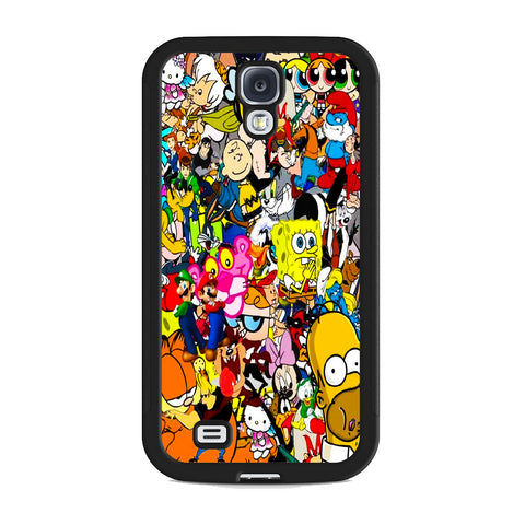 All Characters Cartoon Collage Samsung Galaxy S4 Case