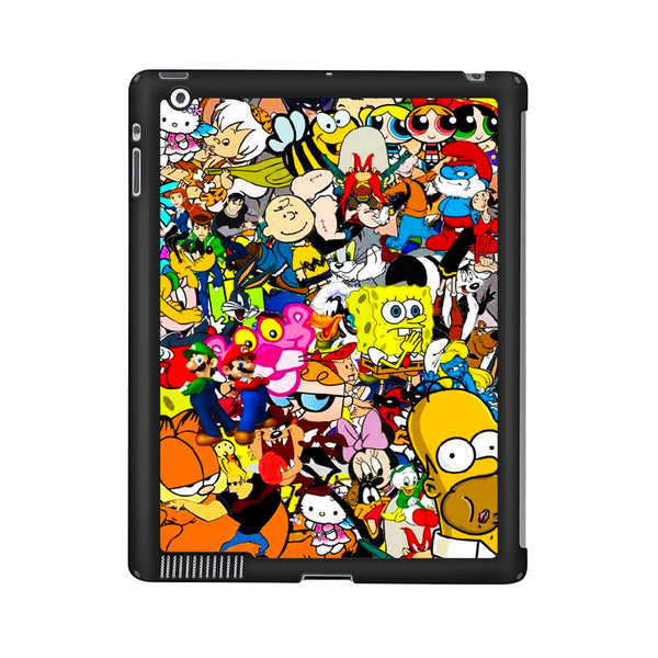All Characters Cartoon Collage iPad 2 | 3 | 4 Case