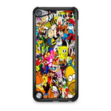All Characters Cartoon Collage iPod Touch 5 Case