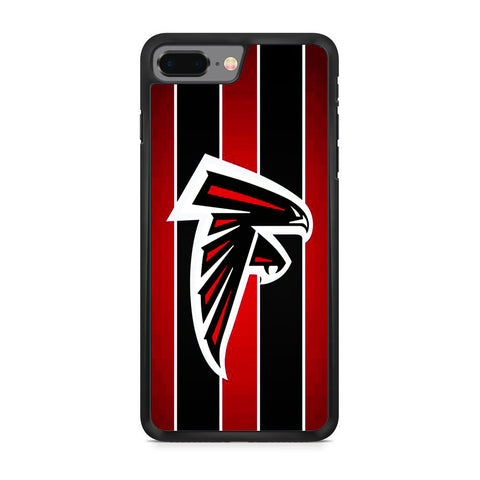 Atlanta Falcons Black Red Stripe iPhone 8 Plus Case