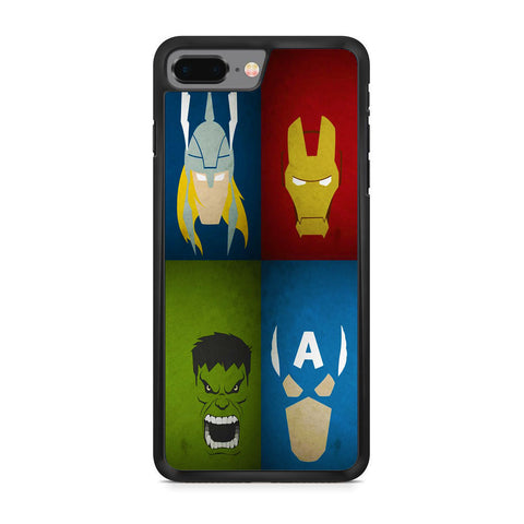 Avengers 2x2 Face iPhone 8 Plus Case