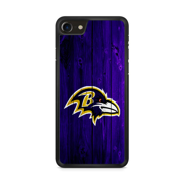 Baltimore Ravens Wood Logo iPhone 8 Case