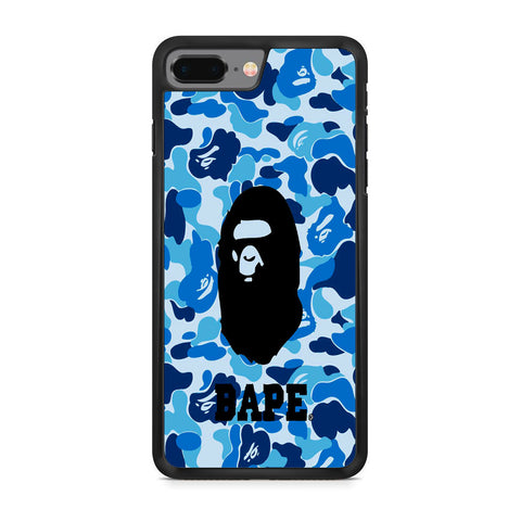 Bape Camo Blue Logo iPhone 8 Plus Case