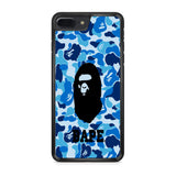 Bape Camo Blue Logo iPhone 7 Plus Case