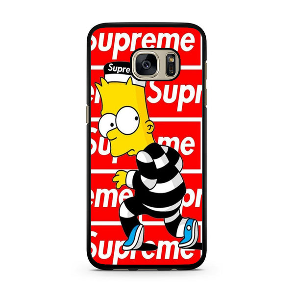 uk availability 45ef1 86b3a Bart Simpson Supreme Samsung Galaxy S7 | S7 Edge Case