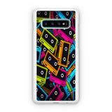 Cassette Tape Multicolor Samsung Galaxy S10 | S10e | S10 Plus | S10 5G Case