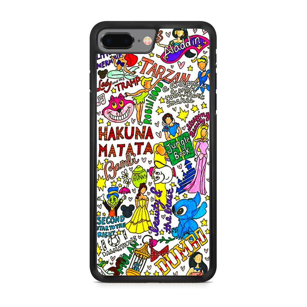 new product 74533 308dc Disney Characters Doodle iPhone 8 Plus Case