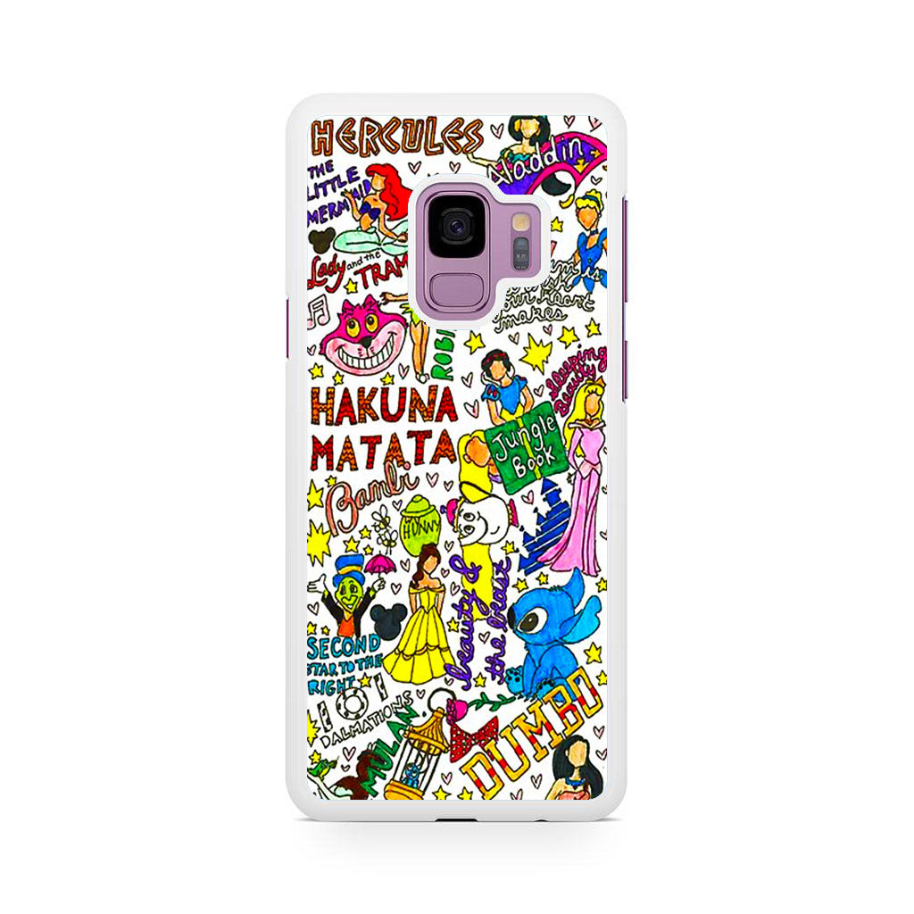 info for 0f710 a1b17 Disney Characters Doodle Samsung Galaxy S9 | S9 Plus Case