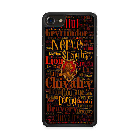 Gryffindor Quote Logo iPhone 8 Case