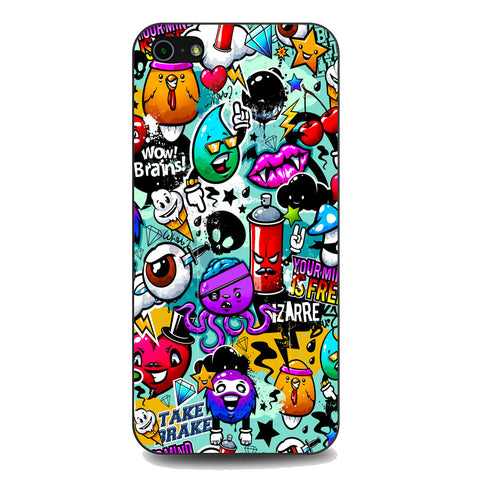Icons Graffiti iPhone 5 | 5S | SE Case